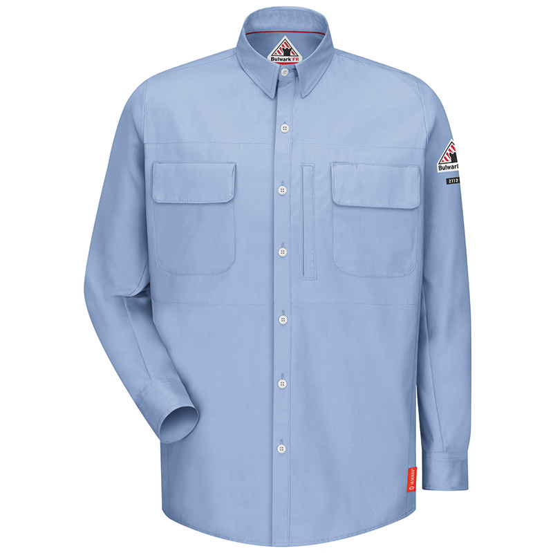 Bulwark flame resistant iq series patch pocketed shirt qs30 for Bulwark flame resistant shirts