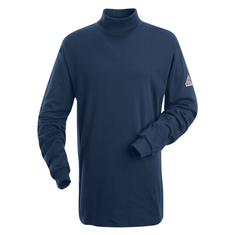 Bulwark flame resistant long sleeve cotton tagless mock for Bulwark flame resistant shirts