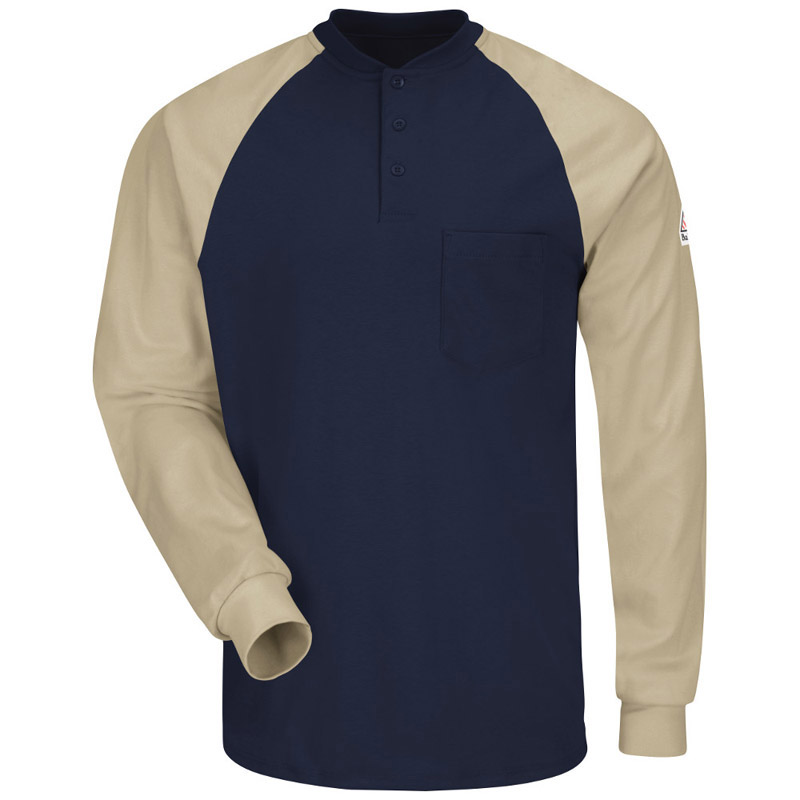 Bulwark flame resistant long sleeve color blocked tagless for Bulwark flame resistant shirts