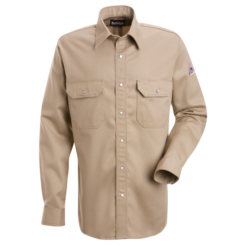 Bulwark flame resistant excel fr cotton snap front deluxe for Bulwark flame resistant shirts