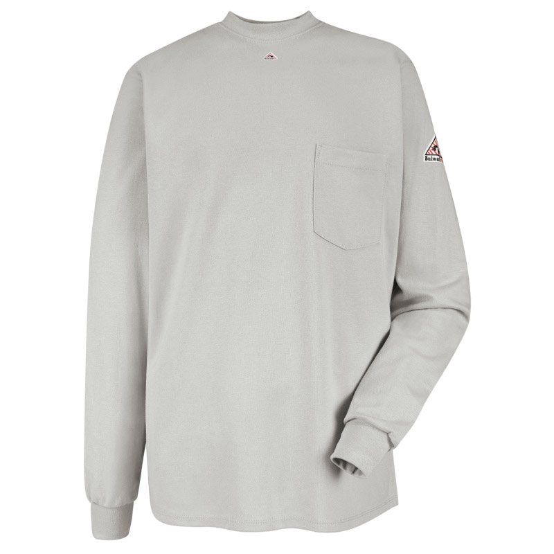 75f9ab080513 Bulwark Flame Resistant Long Sleeve Tagless T-Shirt - Click for Large View
