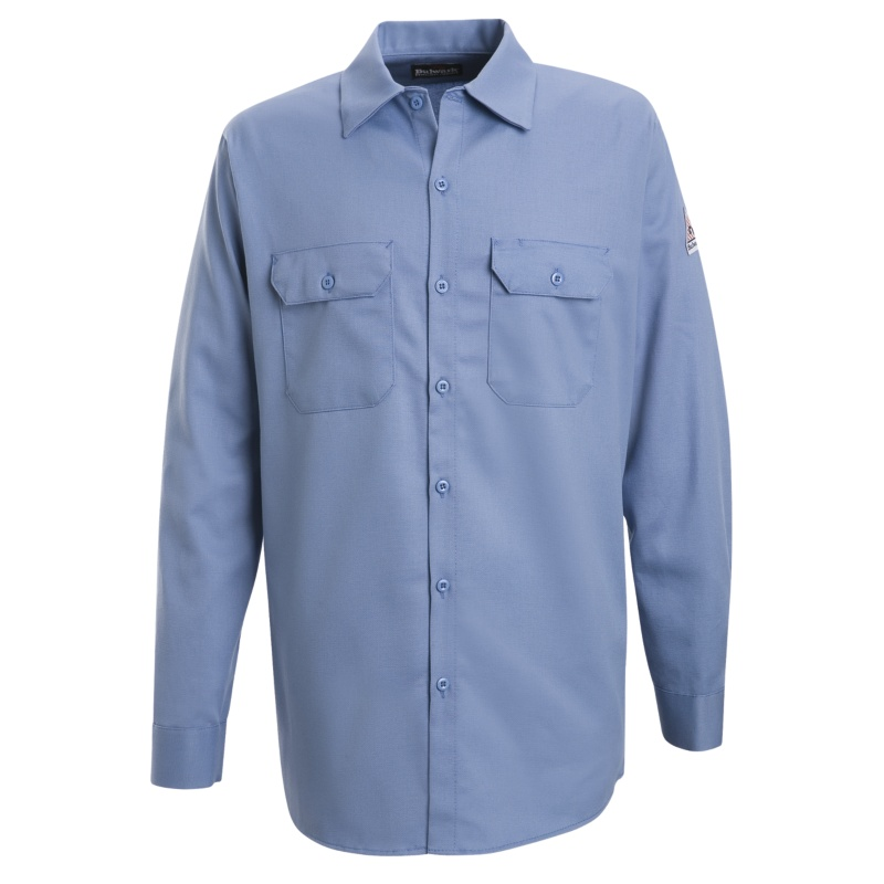 f2552c9b07a Bulwark Flame Resistant Excel-FR Cotton Button Front Work Shirts