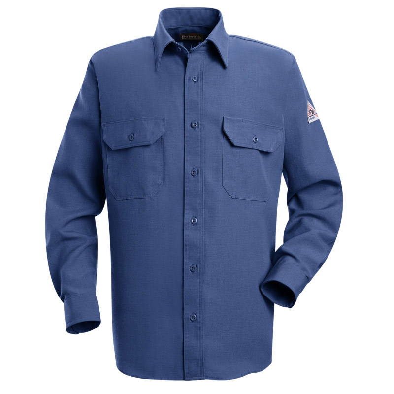 dc5b4f4f596a Bulwark Nomex IIIA Flame Resistant 4.5 oz. Button Front Deluxe Shirt ...